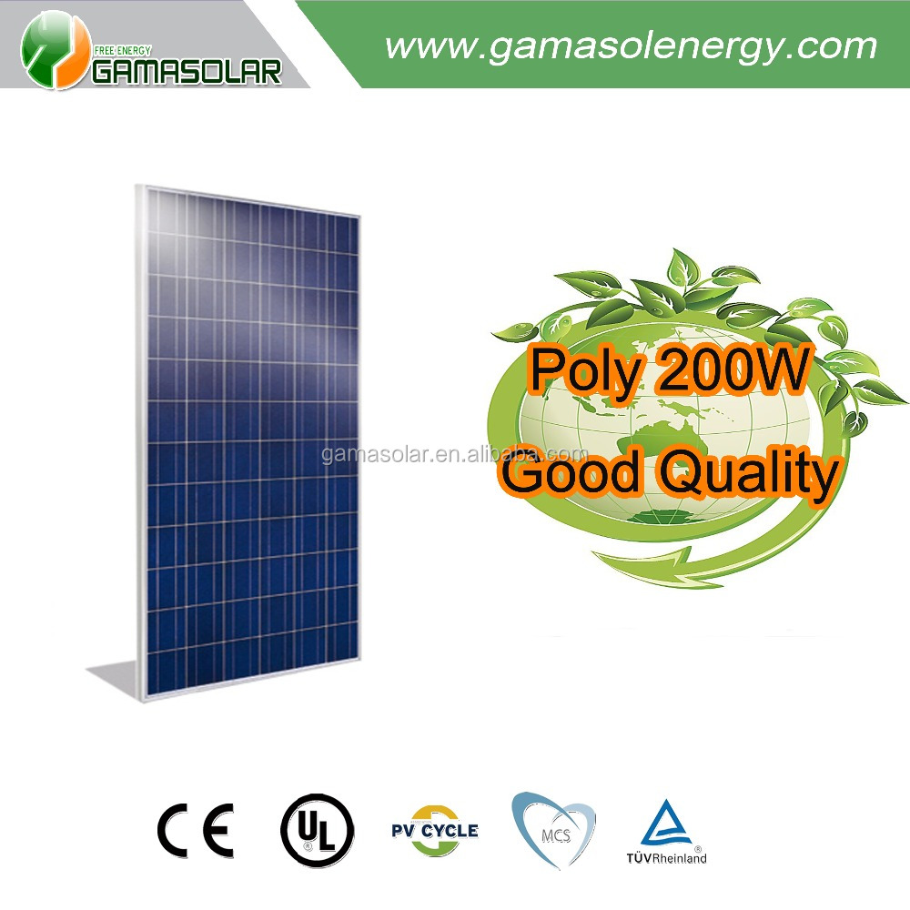 Gama Solar good quality 5w~300w 200w small solar panel mono cell for chile