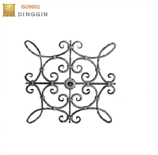 12mm square steel wrought iron and forged flower panels