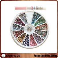 3d Nail Art Accessories in wheel,Crystal Stone