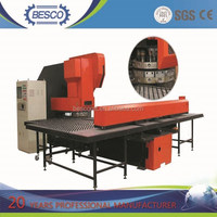 Pneumatic and hydrautic rubber glass steel plate of Besco CNC punching machine