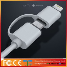 Micro and MFi 8 pin 2 in 1 usb charging data cable