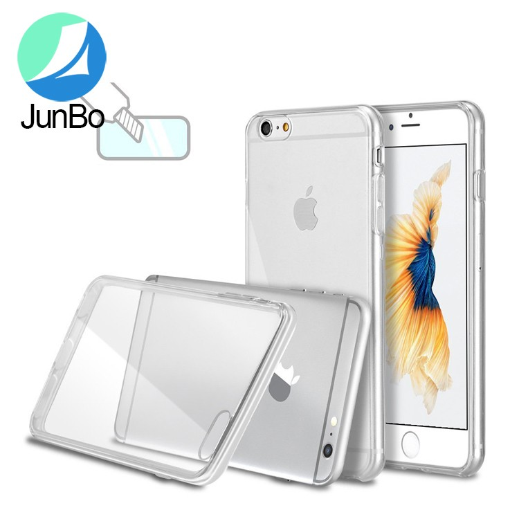 Junbo New product color transparent soft tpu case for Iphone 7 shockproof case