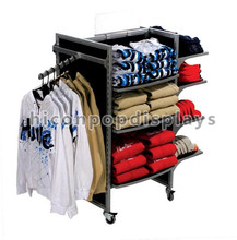 Custom garment store metal men winter clothes display stand
