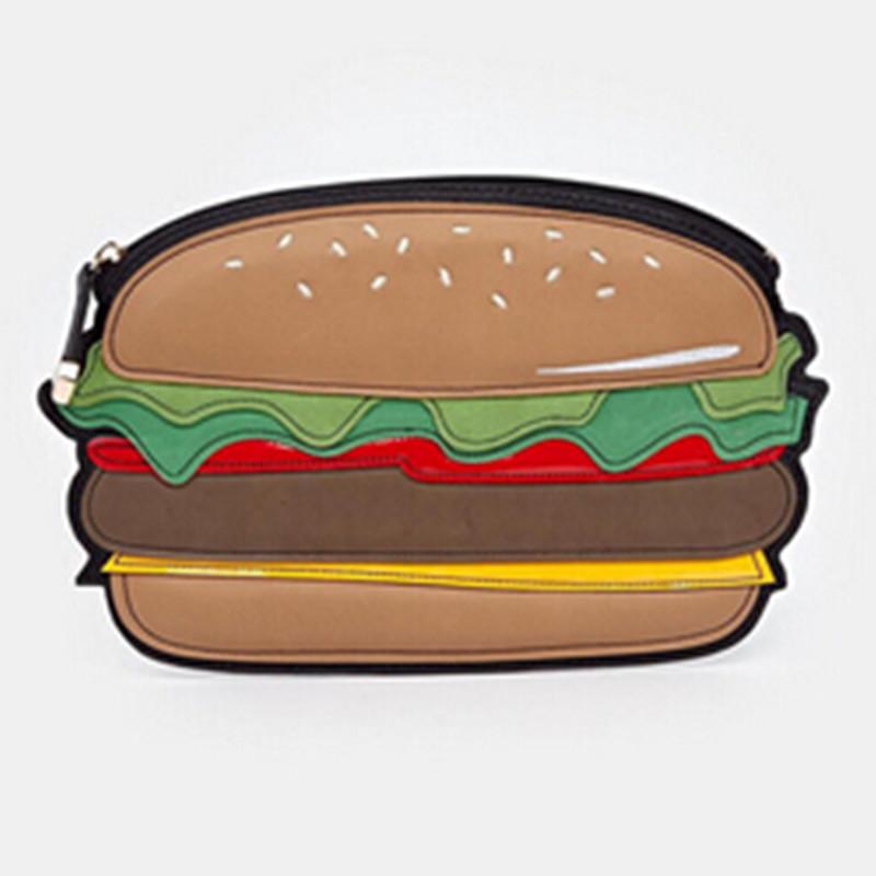Women Hand Bag High Fashion Cute Clutches Hamburger Donut Bottle Ice Cream Change Purse Dollar Price Wallet Clutch In On