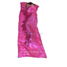 Hotsale Cheap Hostel Travel Silk Liner Human Shaped Outdoor Camping Sleeping Bag