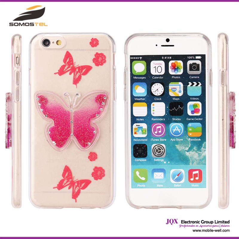 [Somostel] 3D sublimation cartoon butterfly case soft TPU cover case for LG for samsung for iphone 6 plus