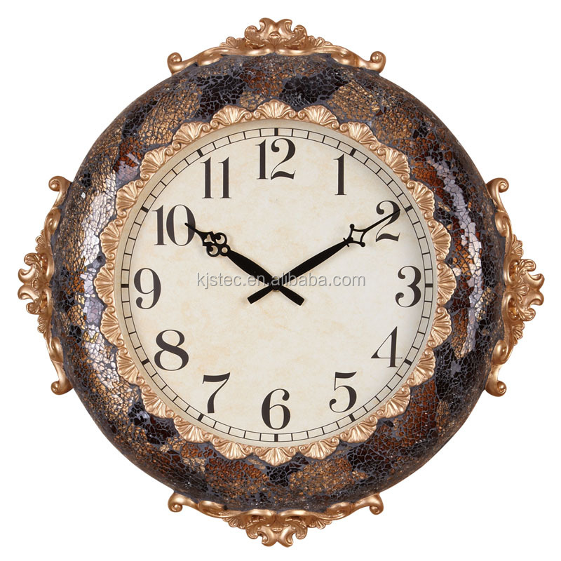 promotional outdoor home decoration glass clock