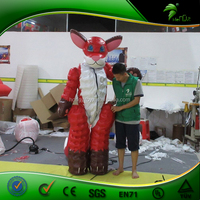 Cute Inflatable Fox Suit / Double Layer Inflatable Costume / Inflatable Animal PVC Suit