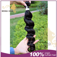 Mona hair best quality unprocessed grade 7a star quality hair extensions