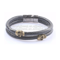 Fashion Men Bracelet Hot Sale Charm Stingray Bracelet Leather
