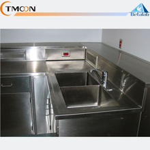Laboratory furniture chemical biological 304 stainless steel work bench laboratory table with drawer