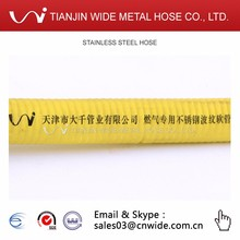 Chinese Manufacturer Yellow Stainless Steel Flexible Natural Gas Hose