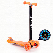 Four-Wheel Folding Kids Skateboards Car Flash Lifting Light Energy Children Twisting Scooter For Sale Height Can Be Adjusted Min
