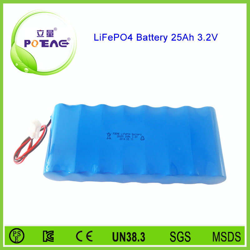 rechargeable lifepo4 battery 3.2v 25ah