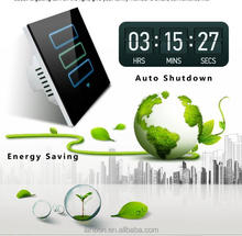 EU and US standard Energy saving auto turn off wifi smart touch light switch 2 years warranty