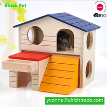 XJY96 simple and lovely wooden pet rat cage