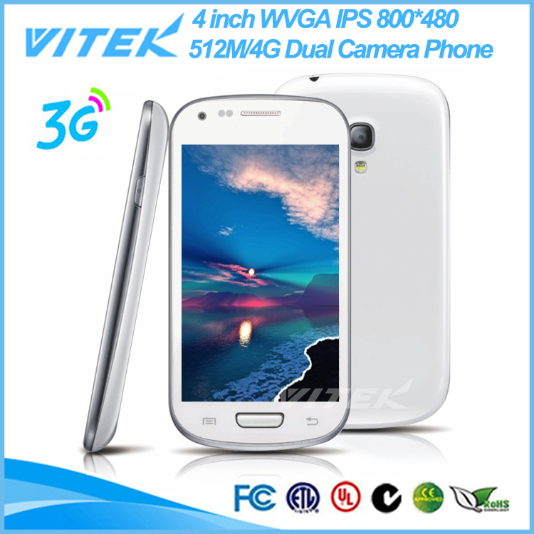 Alibaba New Product MTK Dual Core 4 inch 3G Android City Call Mobile Phone