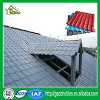 Factory roof construction material spanish roman resin roof tile for garden shed