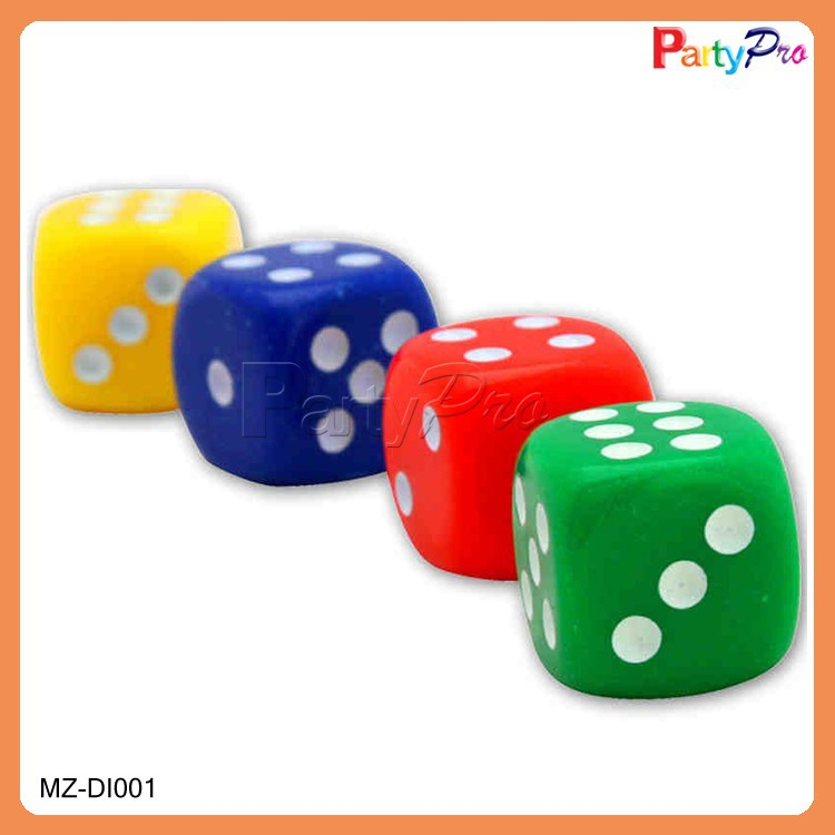 2015 New Design 12mm Round Corner Professional Casino Game Plastic Dice