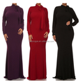 2017 muslim women new large size swing long sleeved dress & High quality turtleneck big size women's dresses