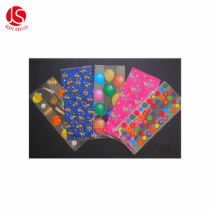 Happy Birthday Polka Dot Balloon Blossom Cellophane Party Favor Treat Bags