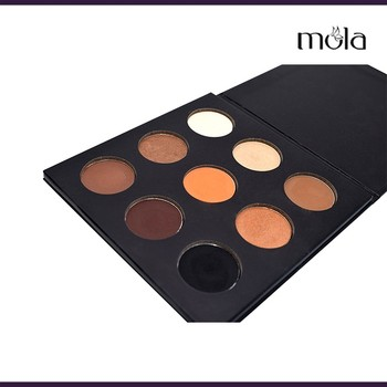 New design cardborad palette eyeshadow 9 color shimmer eyeshadow custom logo eyeshadow palette