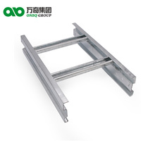 Ladder type stainless steel zinc plated silver fire proof cable tray