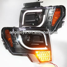2013-2014 Year For F150 Raptor F-150 LED Strip Head Light with Full LED turn signal light SN