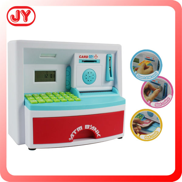 2014 Latest plastic electronic supermarket toy cash register with IC sound and music and light