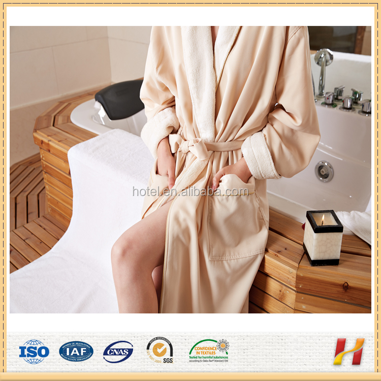 China Manufacture Polyester Microfiber Coral Fleece Hotel Bath Robe
