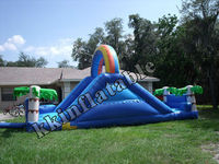 artificial coconut tree inflatable slide , inflatable super slide for outdoor hire