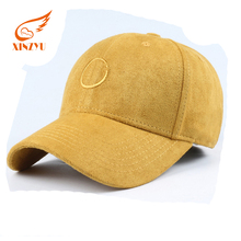 Promotional High Quality Embroidered Hat Custom Suede Baseball Cap For Wholesale