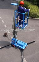 Hydraulic small lifting platform with working height 7.7m for single person
