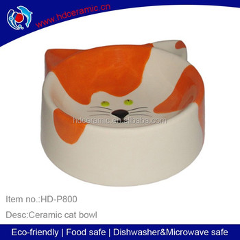 Dolomite lovely cat face shaped custom ceramic pet bowl,hot sell pet cat bowl ceramic dog bowl