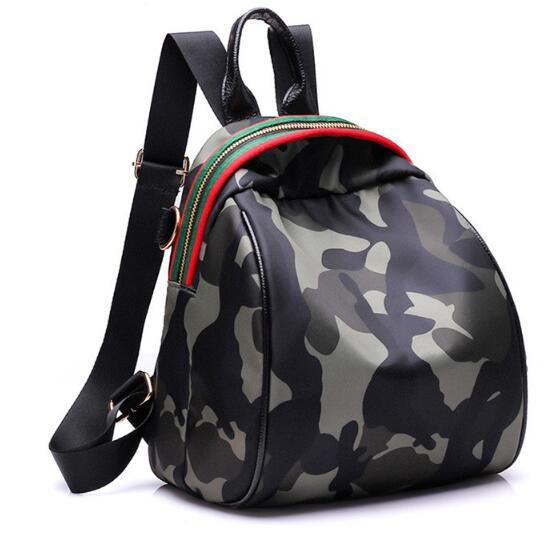 Small Fashion Camouflage Women Girls Shoulder Bookbags School Travel Backpack Bag