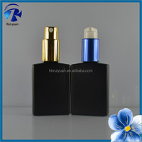 New products 2016 empty matte black glass perfume bottle 30 ml