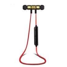 High Quality Wireless Stereo CSR V4.1 Sport Headphone with Magnetic Tips, In-Ear Noise Cancelling and Sweat Proof Earphones
