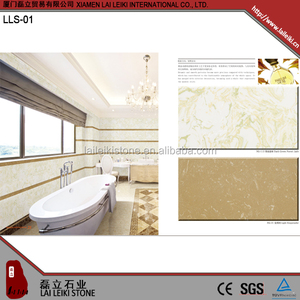 Best quality home wall decoration cultured artificial marble shower surround