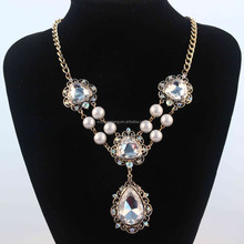 2015 Crystal pearl pendant fashion necklace