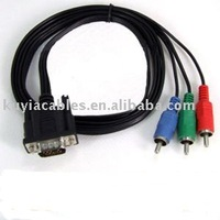 VGA/HD15/SVGA/RGB to 3 RCA COMPONENT TV/HDTV CABLE