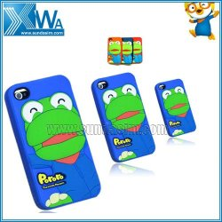 Cute Pororo Silicone Cover Case Skin for iPhone 4 4G 4S