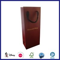 Fancy Printed one bottle Wine paper Bag