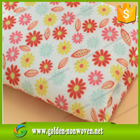 80-100gsm +15gsm pe coated film printed nonwoven spunbond fabrics for bag making, printed spunbond nonwoven fabric