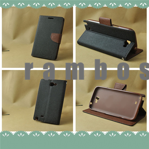 New Magnetic PU Flip Leather Slot Wallet Case Cover for HTC One M7 M8 X S Desire 500 Desire 816