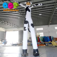Custom cute cartoon cow decoration theme advertising inflatable air dancer
