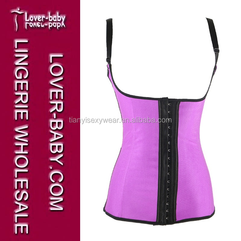 Purple Ann Chery Women's 3 Hooks Latex Sport Vest Woman Waist Trainer Cincher L42635-3