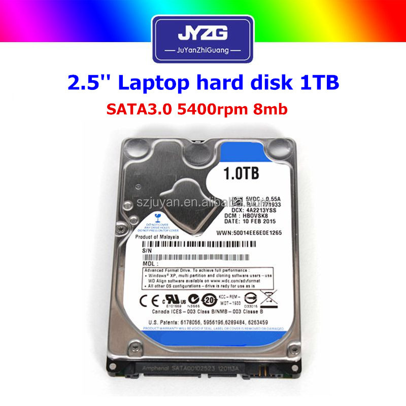 "Refurbished 2.5"" sata hard drives 1TB Laptop 5400rpm 8gb used hard disk drives"