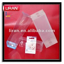 clear pvc hinged lid plastic boxes