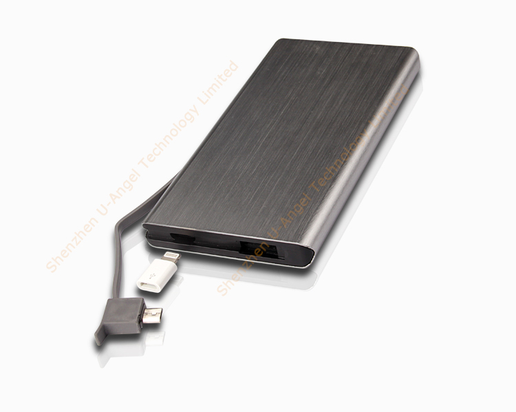 Factory price top selling wholesale 6000mAh power bank for phone, Type-c and micro USB port