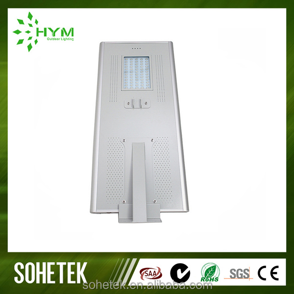 All in one solar power led motion sensor street lights integrated solar street lamp 60w